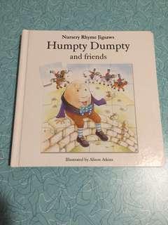 Nursery Rhymes Jigsaw - baby/toddler book