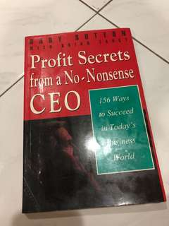 Profit secret from a no-nonsense CEO GARY SUTTON