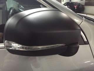 Side mirror wrapped