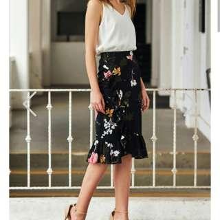 TCL Ellia Ruffled Floral Printed Skirt