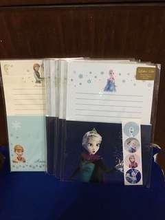 Disney (original) Frozen Stationery Letter Set - made in Japan