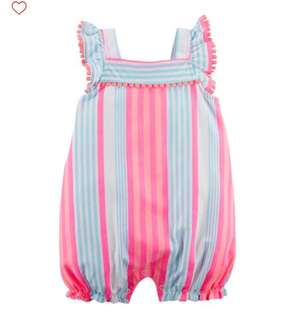 *24M* Brand New Carter's Striped Romper For Baby Girl