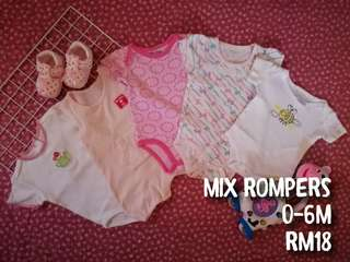 Mix cond baby girl rompers