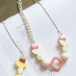 Sweet Pink Geometric Necklace