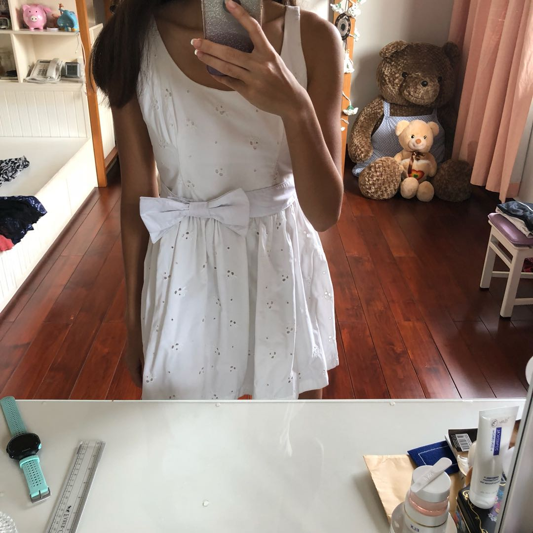 Abercrombie and Fitch White Dress Skater
