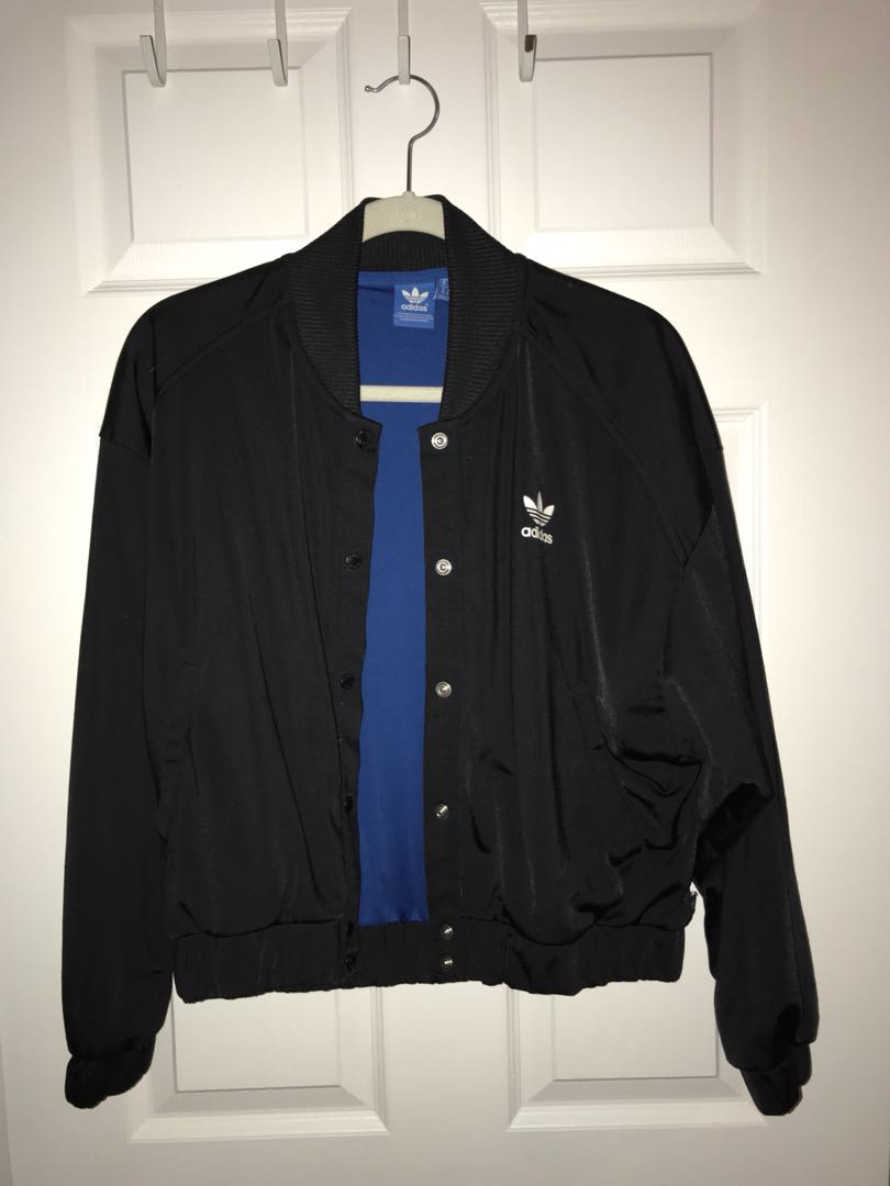 Adidas button up bomber