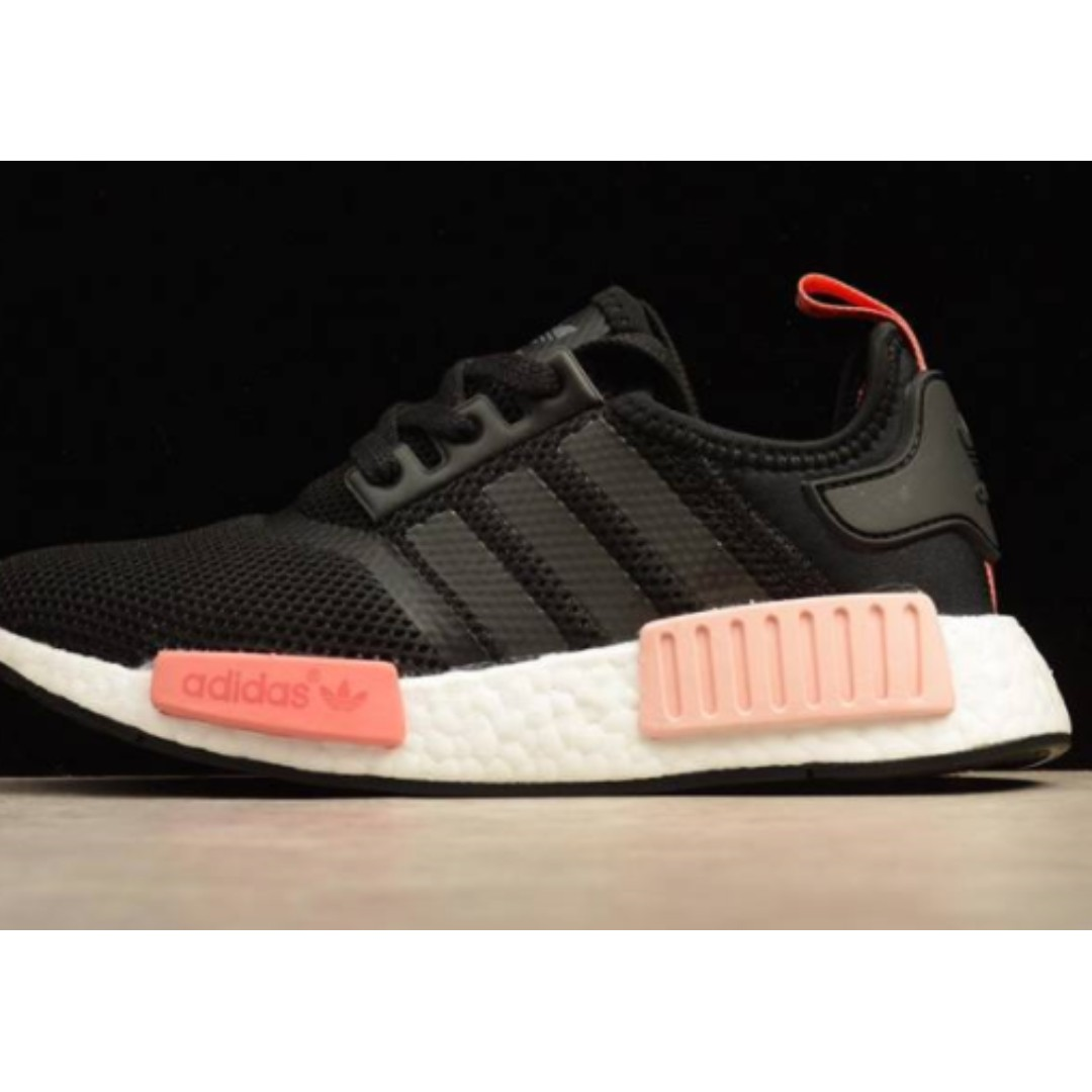 brand new 2a230 72aa7 Adidas NMD Black / Peach Pink, Women's Fashion, Shoes on ...