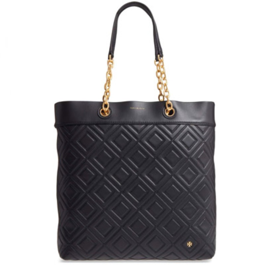 a5dc3211926 Authentic Tory Burch Fleming Medium Tote Quilted Leather Shoulder ...