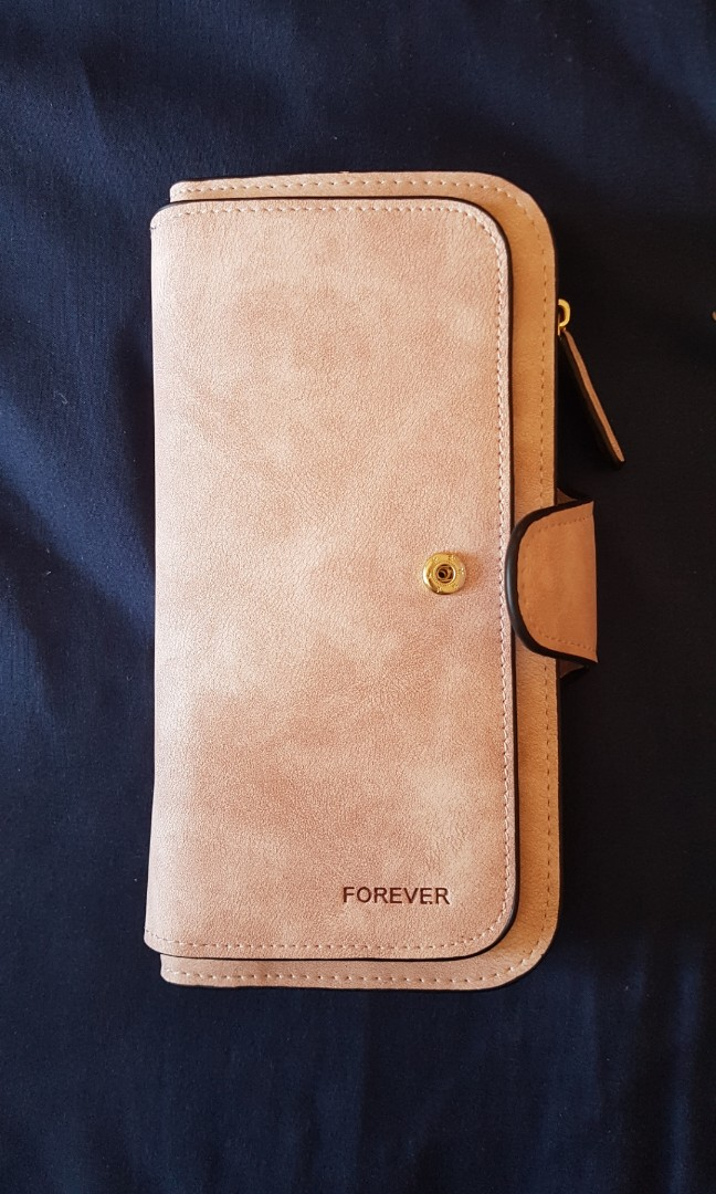 Baby pink large sofr wallet