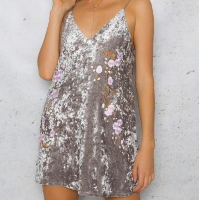 DOLLYGIRL Velvet Dress