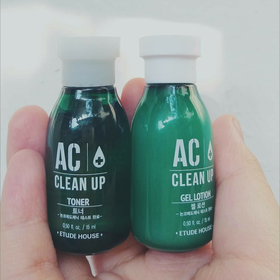 ETUDE HOUSE AC CLEAN UP TONER AND GEL LOTION, Health & Beauty, Skin, Bath, & Body on Carousell