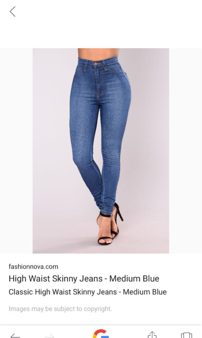 High waisted Fashion Nova size 5 jeans