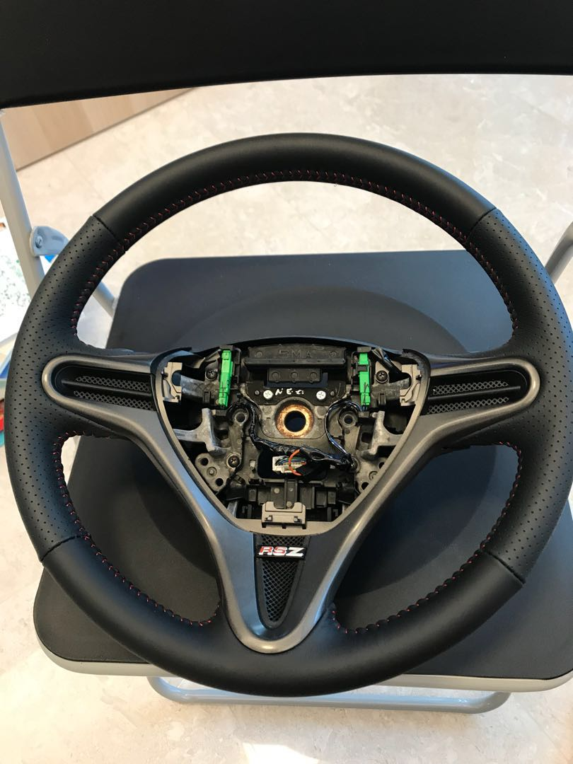 Honda Stream Rsz Steering Wheel Leather Wrap Service Only For Rsz