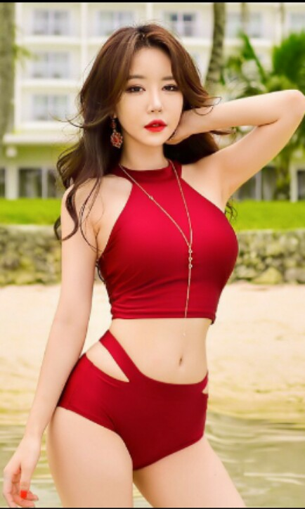 d4c5e587cef4d Carousell의 Korean style sexy elegant high waist bikini set ...