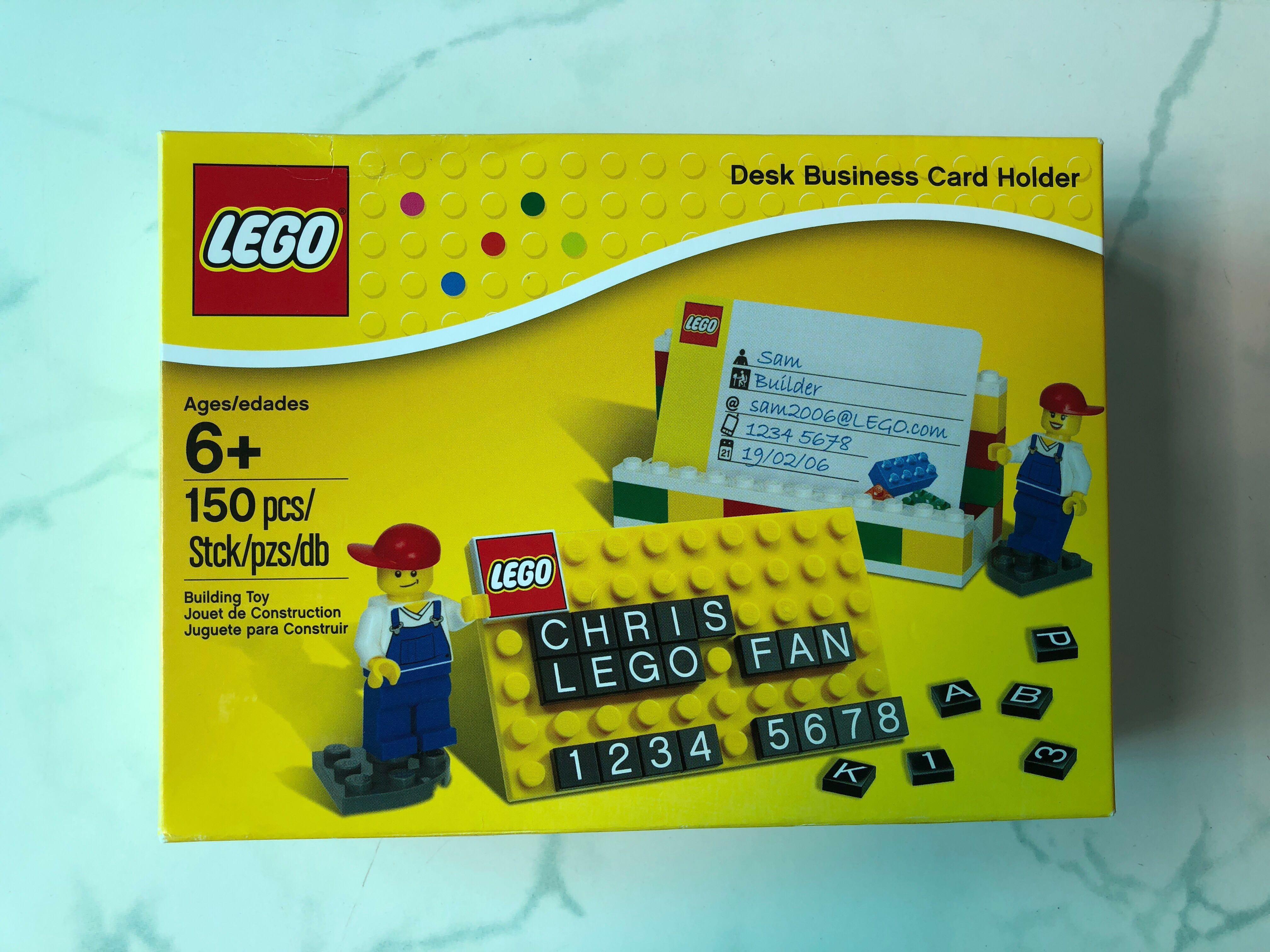 LEGO desk business card holder (used but complete set), Everything ...
