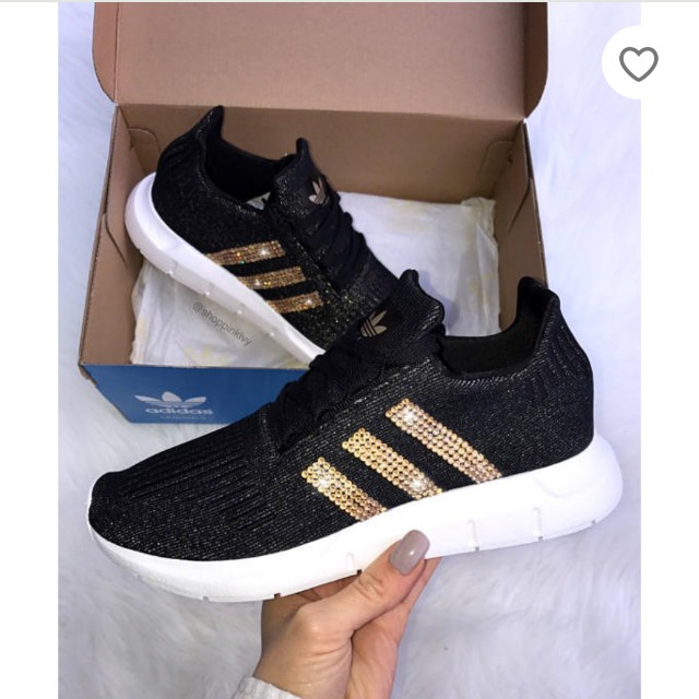 LF  (CLOSED) Swarovski Adidas Swift run Women s casual shoes ... f30451f0a778