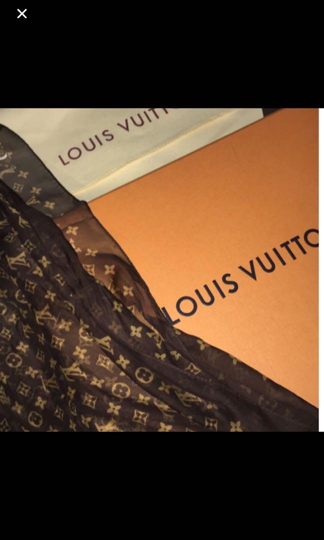 Lv monogram silk scarf