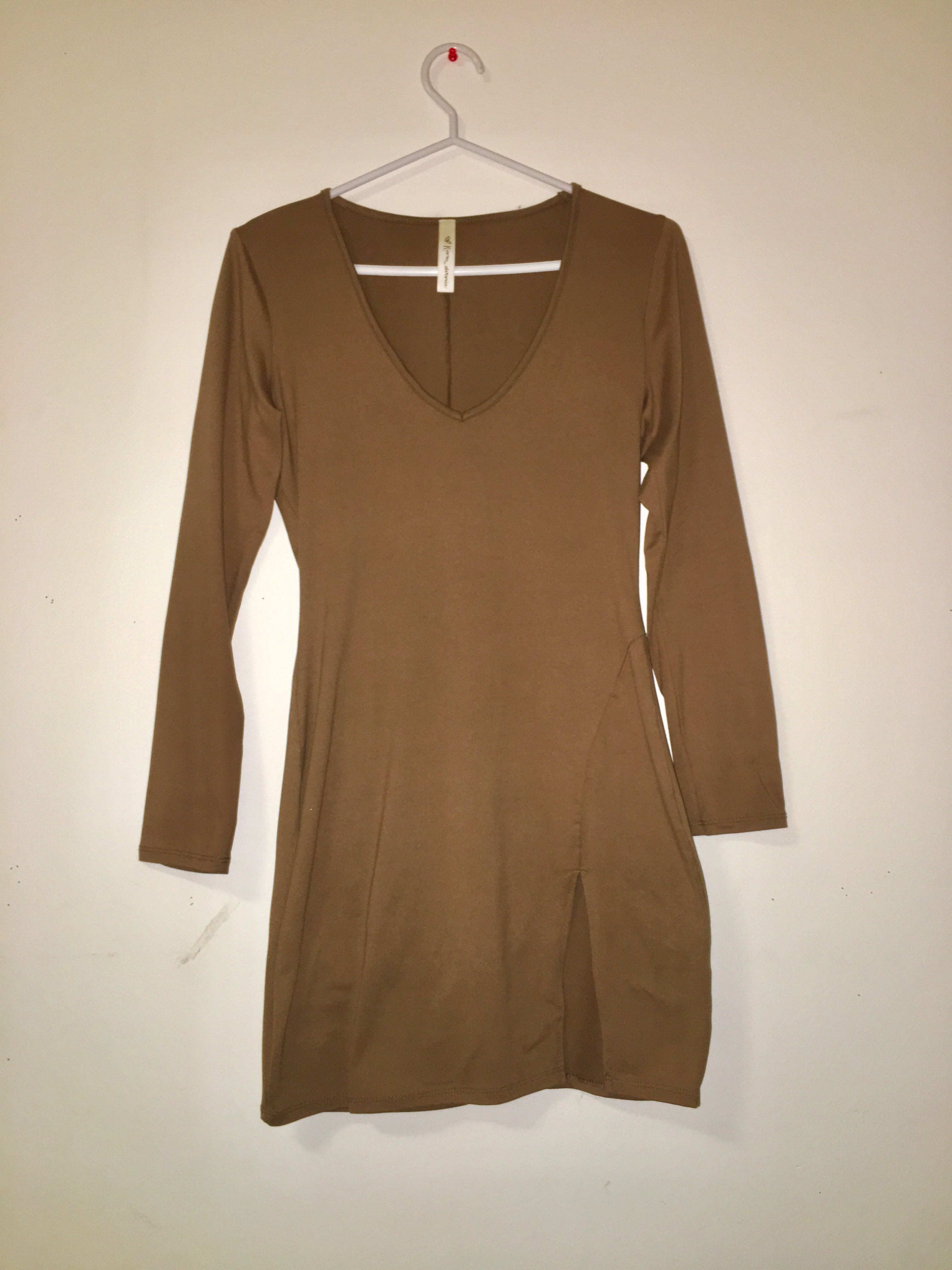 M Boutique Long Sleeve Dress w/ slit