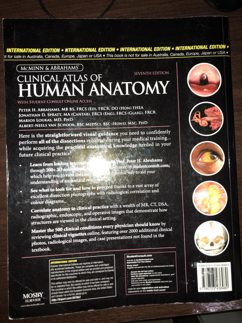 Mcminn Clinical Atlas of Human Anatomy 7th edition (latest), Books ...