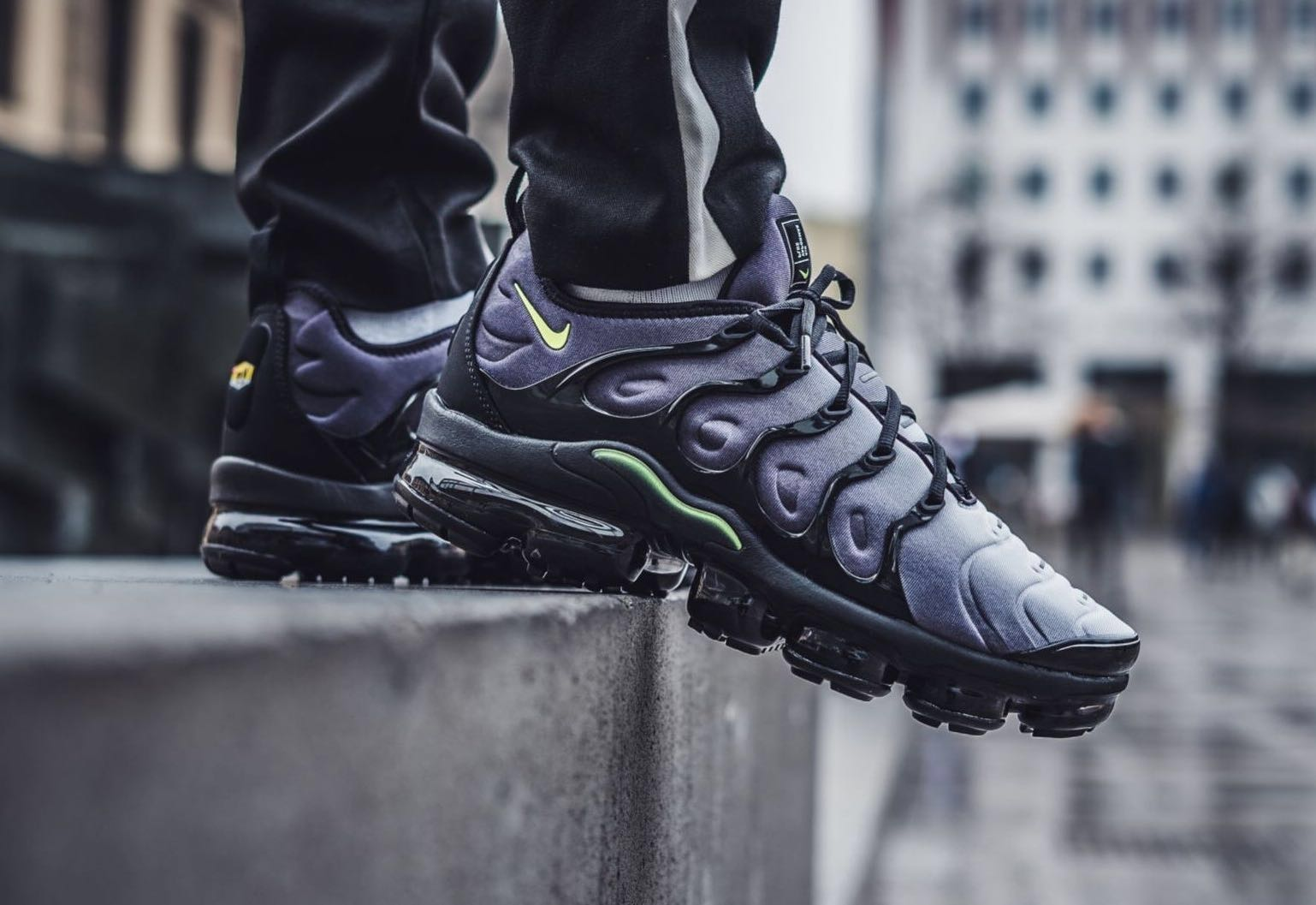 72bc22973b Nike Air VaporMax Plus Black Volt Neon, Men's Fashion, Watches on ...