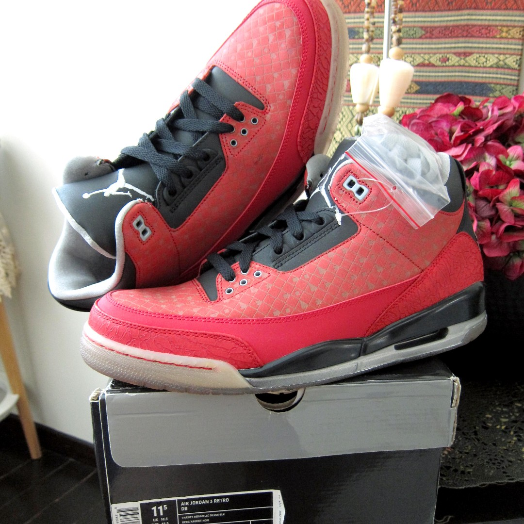 sports shoes 2e584 17a54 Nike Jordan III 3 Retro Doernbecher Charity Limited Sneaker Shoe Air ...
