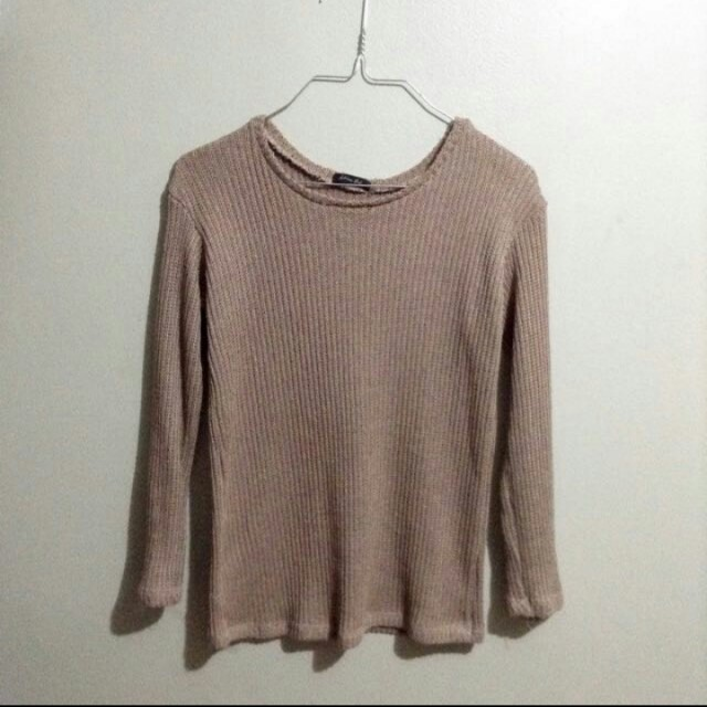 nude pink knit sweater