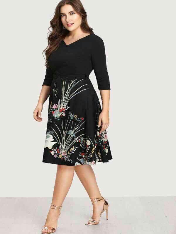 P350 Plus Size Dress Cotton Spandex Freesize Fit Xl To Xxl