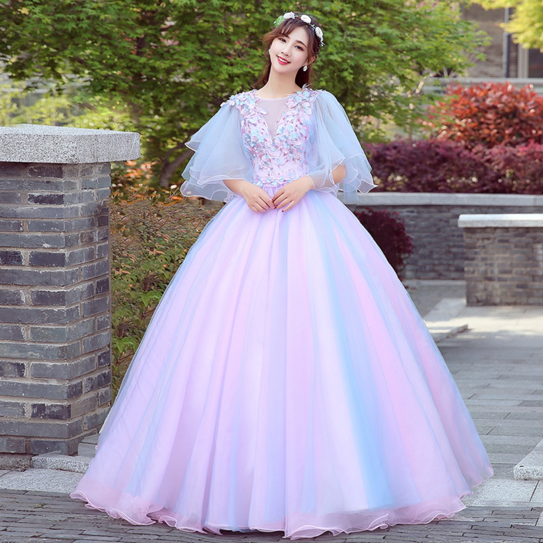 Pre order fairy pink blue wedding bridal