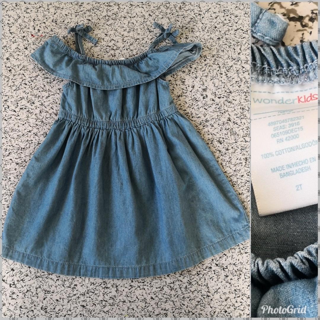 c81832807 Preloved Wonder Kids Denim Dress - 2T, Babies & Kids, Babies Apparel ...
