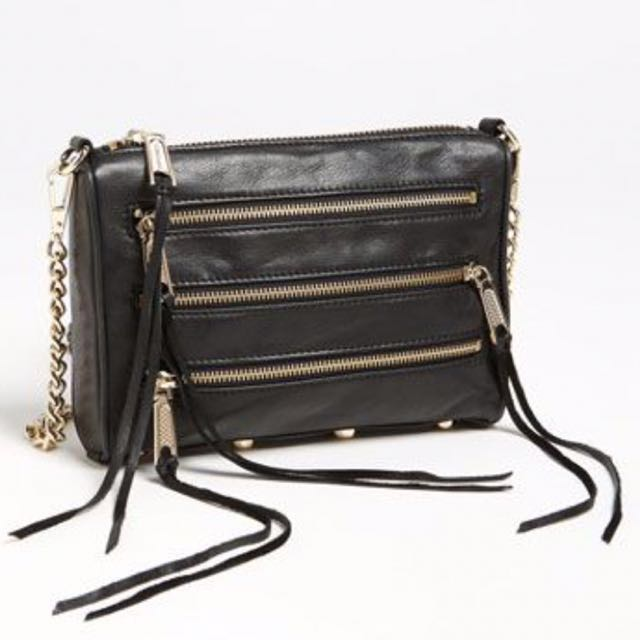 Rebecca Minkoff Triple Zipper Cross body purse (small)