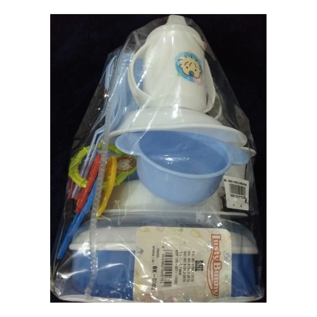 Lusty Bunny Feeding Baby Gift Set Bpa Free Peralatan Makan Minum Bowl And Spoon Biru Muda Bayi Ex Kado Anak Perawatan