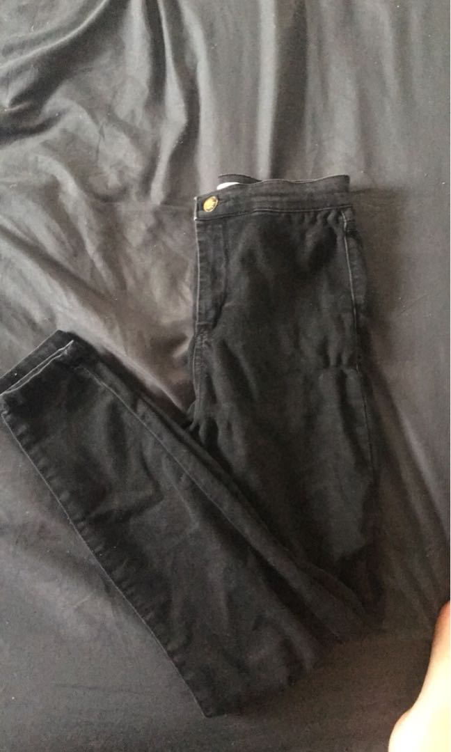Supre black denim jeans size 10