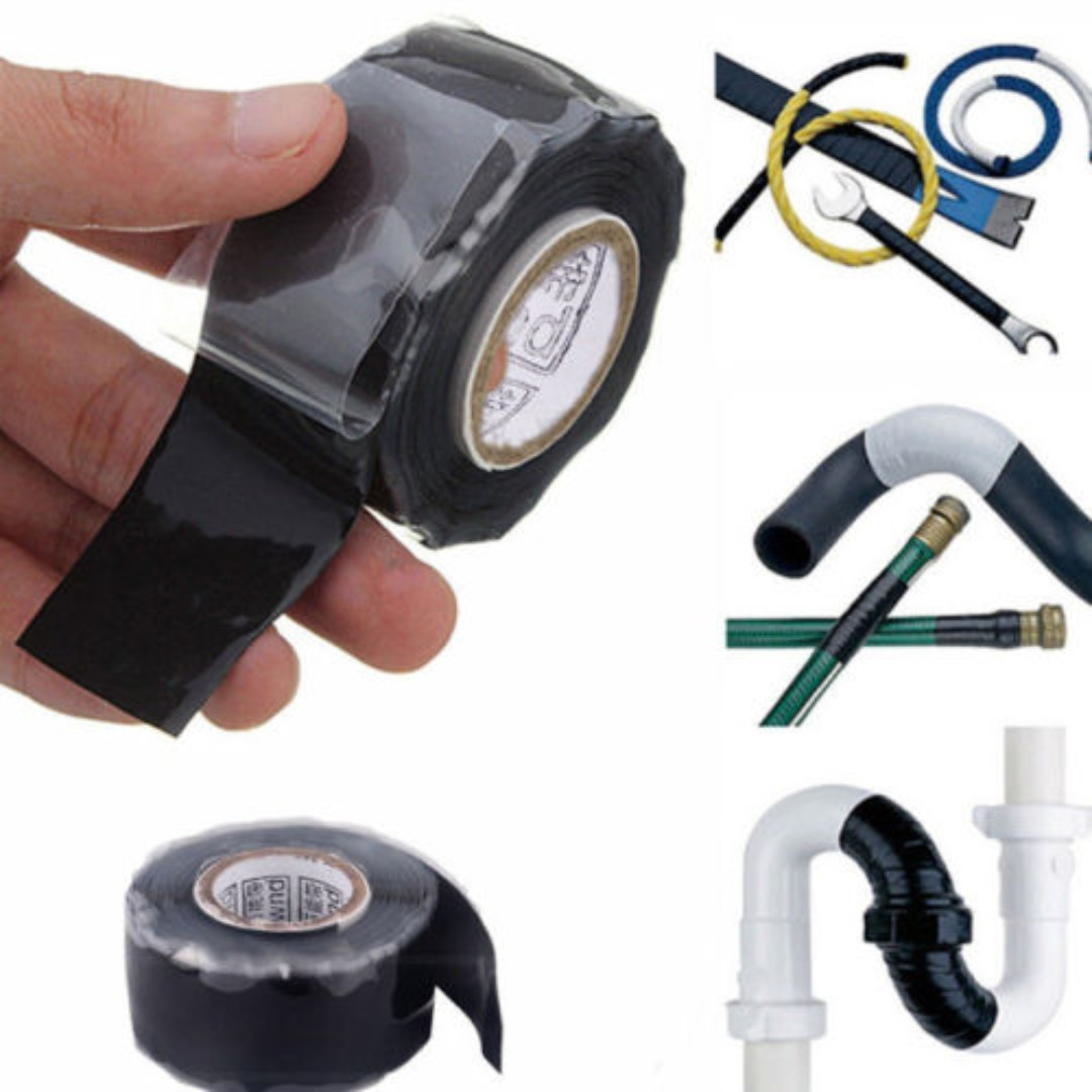 Waterproof Silicone Repair Tape Grip Flex Bonding Rescue Self Fusing Automotive Wire Harness Wrapping Car Scooter Bike Motorbike 25cm X 3m Motorbikes Accessories On