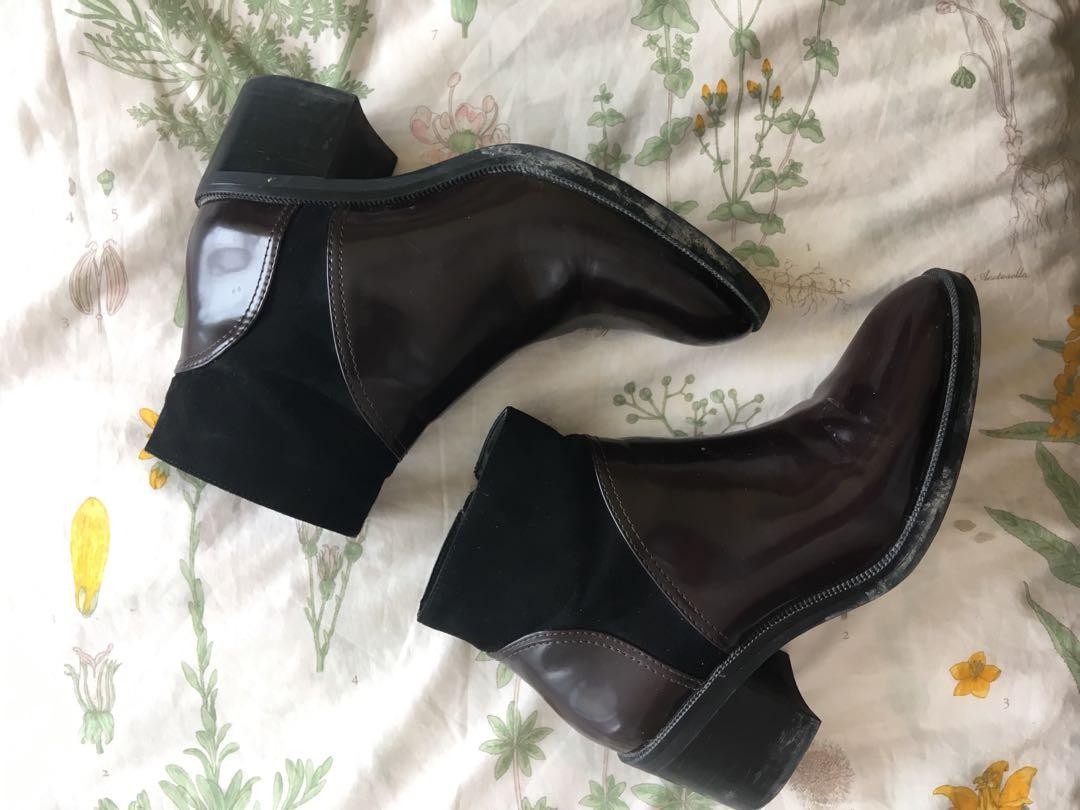 Zara Burgundy boots