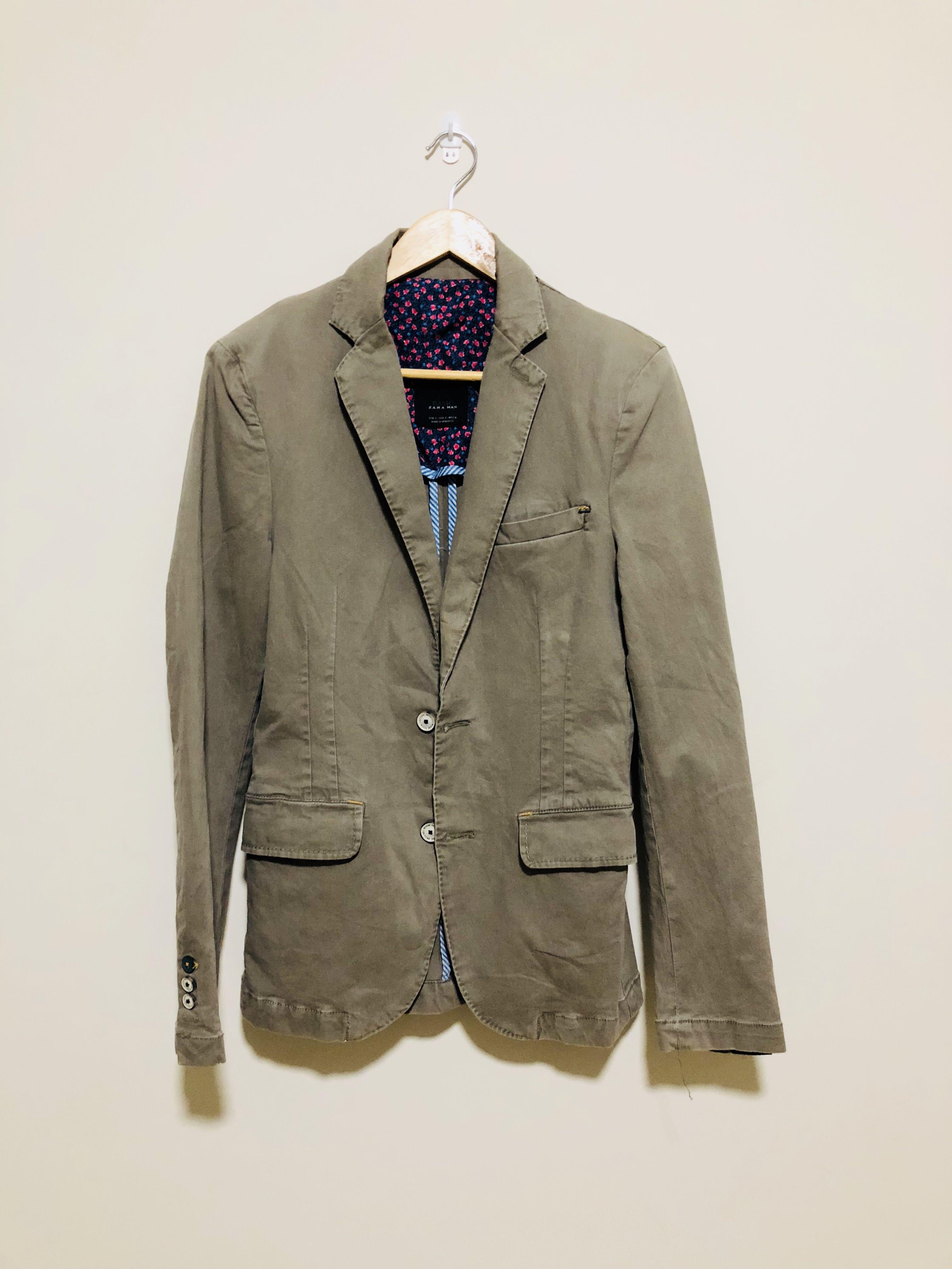 3111f79d Zara Man Basic Blazer, Men's Fashion, Clothes on Carousell