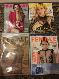 Marie Claire & Female magazine for only RM25