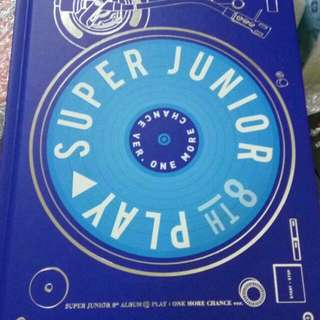 K pop super Junior album Play blue