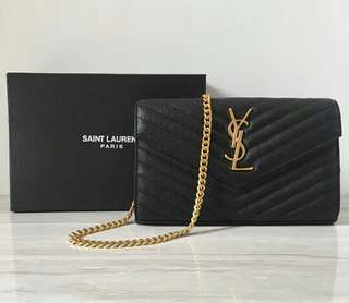 YSL ATTRACTIVE MINI QUILTED TEXTURE LEATHER SHOULDER BAG