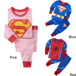 (Preorder) Superman superwomen spiderman sleepwear