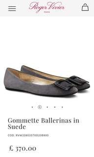 Roger Vivier Gommette Suede Ballerine Flats