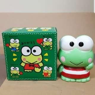 Sanrio Keroppi 1991 陶瓷錢箱