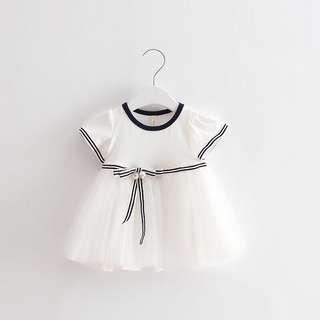 韓版夏季透涼薄款小小海軍風連身裙