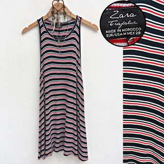 ZARA Trafaluc Stripes Ribbed Sleeveless Dress