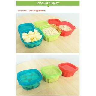 Baby food container 3pcs