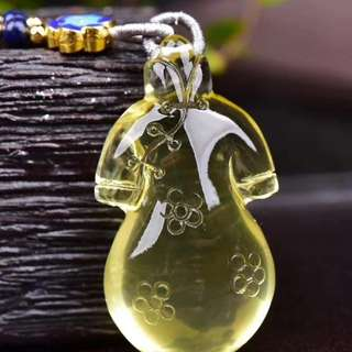 黃水晶旗袍毛衣吊飾