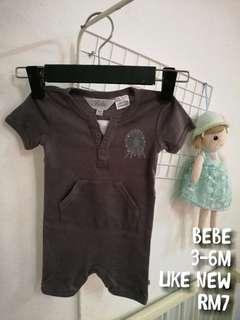 Baby Romper dark grey