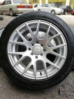 Xxr 527 15 inch sports rim myvi tyre 70%. Menyandat sotong dapat udang, ini rim masuk kereta apa pun confirm garang!!!