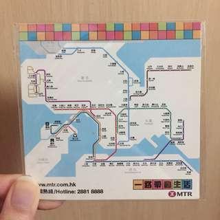 港鐵 路線圖磁石貼