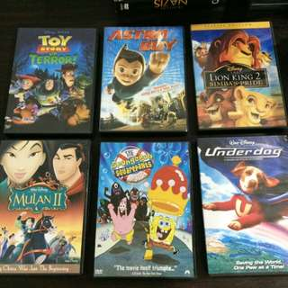 Bundled 12 dvds Disneys movies