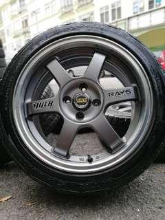 Te37 16 inch sports rim vios tyre 80%. Cewek indonesia bilang hot hot git lorrr!!!